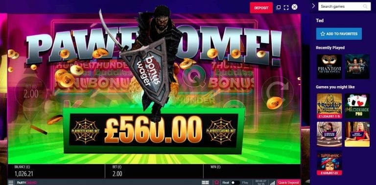 The wager (wager) for the bonus in the casino is visible in this image.