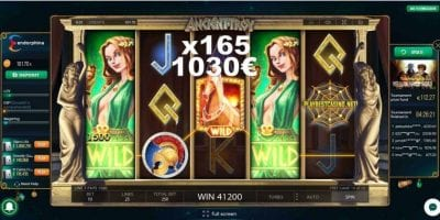 Ancient troy Endorphina big win in Goodwin Casino you can see in this image.