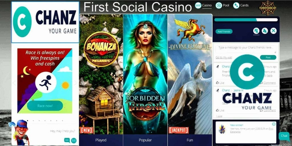 Chanz Casino can be seen in this image!