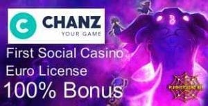 Chanz Casino Logo can be seen in here.