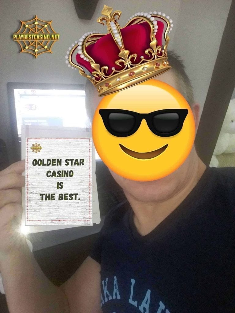 Golden Star Casino Selfie can be seen on this image.