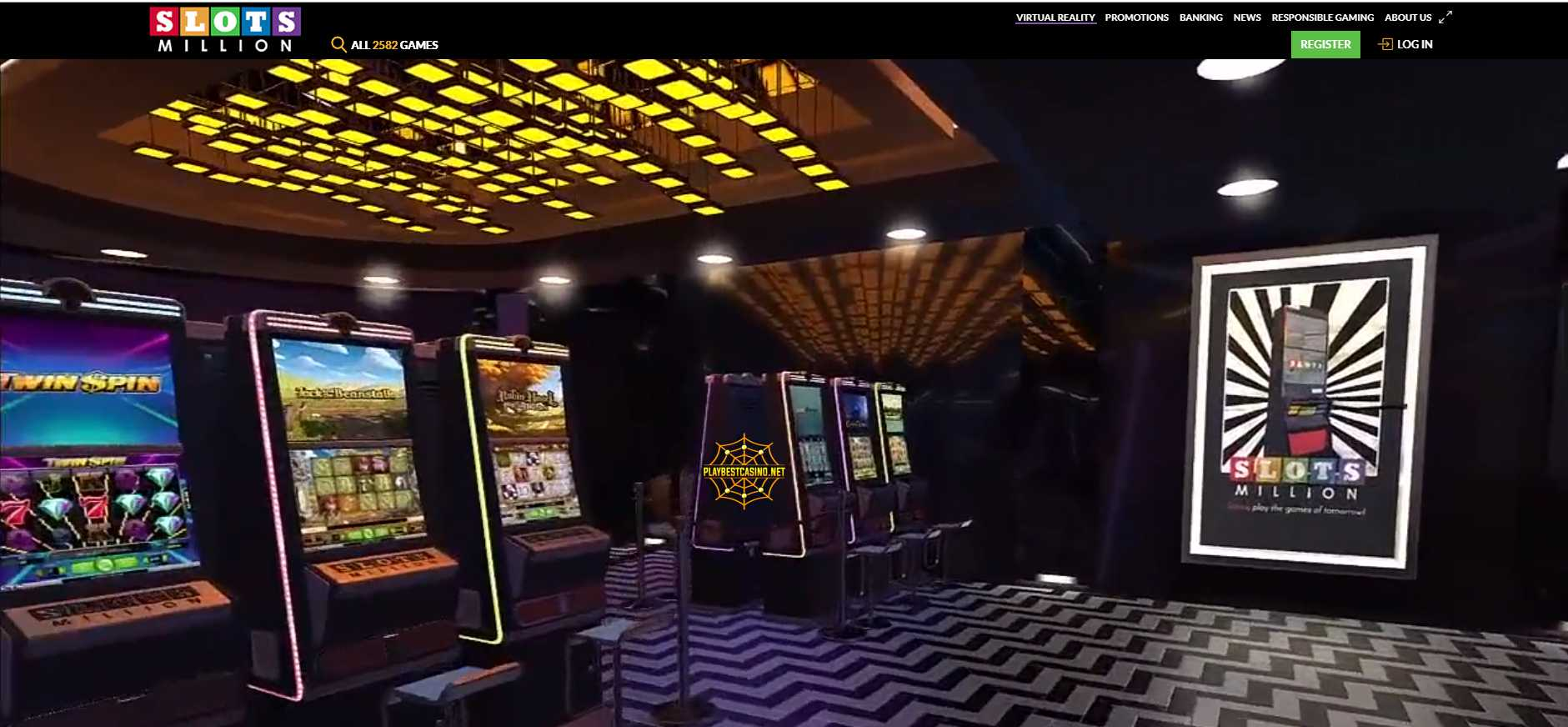 Slotsmillion-3000 games! First social casino with virtual reality!