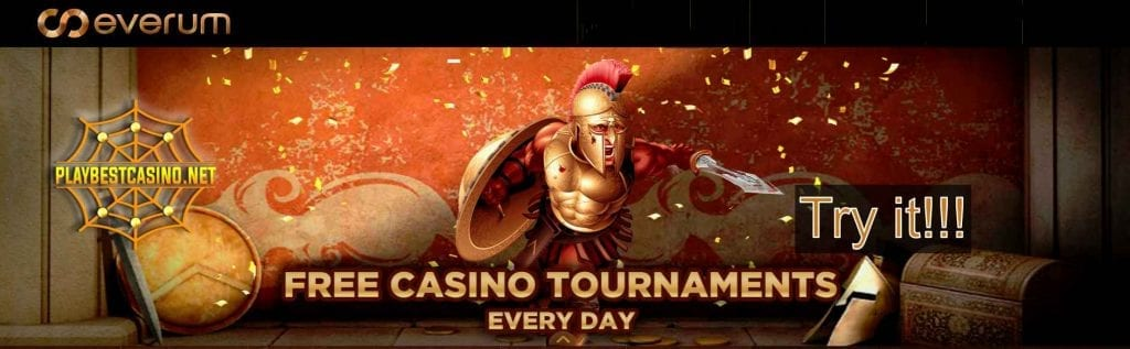 Everum Casino free tournaments can be see in this image!