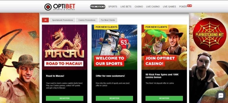 Optibet promotions can be seen in this image!