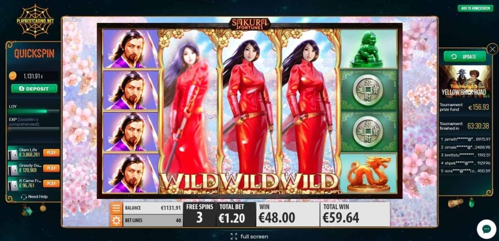 Quickspin Sakura at the casino Goodwin (best games) slot can be seen in this image!