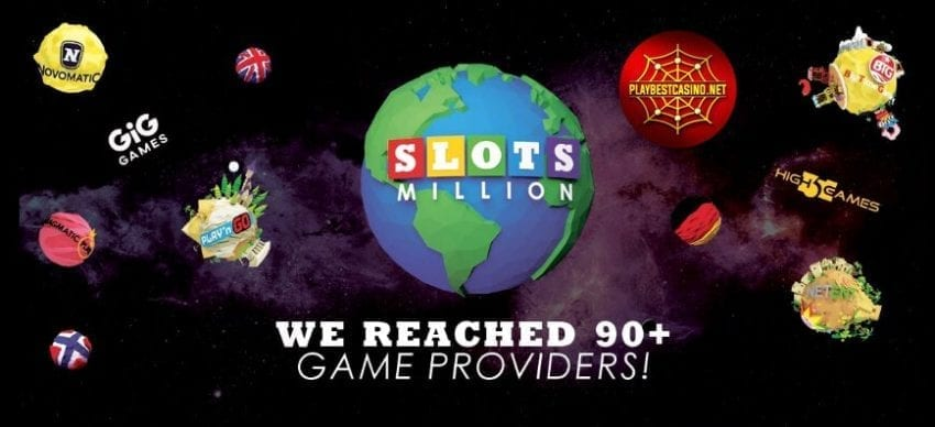 Slotsmillion 90+ providers can be seen in this image!
