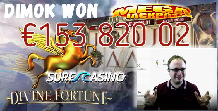 Divine Fortune Mega Jackpot was won by DimOK (Slotum, Fastpay, Everum and Surf casinos).
