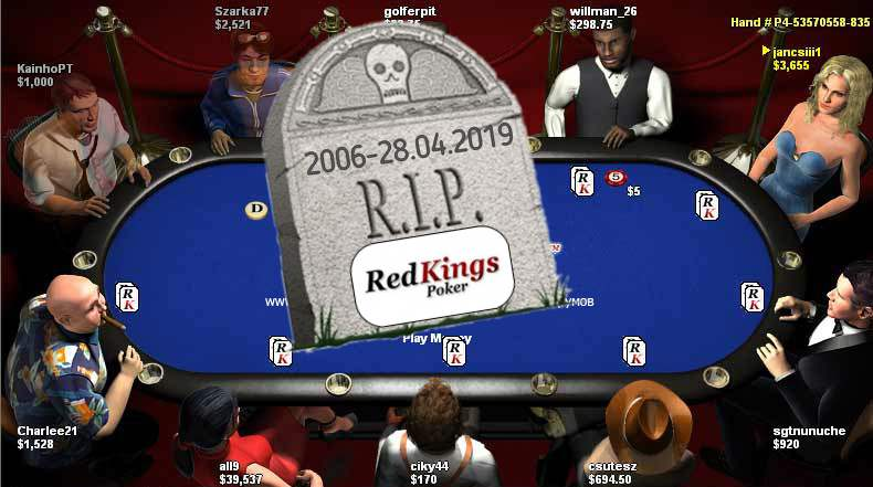 Redkings poker closing can be seen in this image. Redkings poker закрытие представлено на данном снимке.
