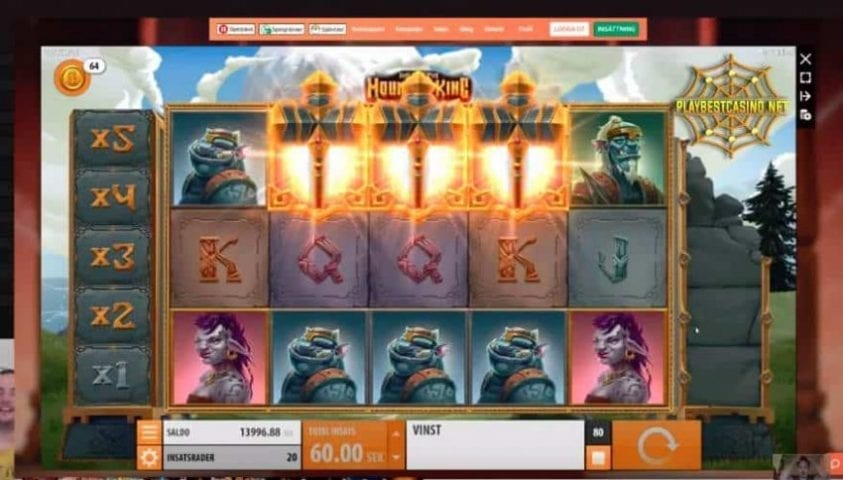 HALL OF THE MOUNTAIN KING bonus game mode can b seen in this image. Brunus game mode is presented in this photo.