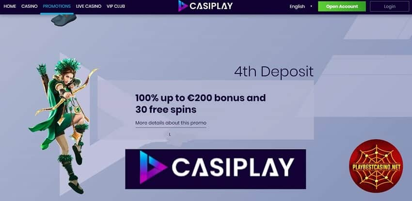 Casiplay casino 4th deposit bonus can be seen on this image.