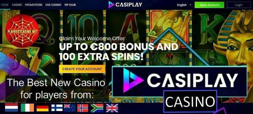 Casiplay! Probably the best new casino of 2019 can be seen on this photo!