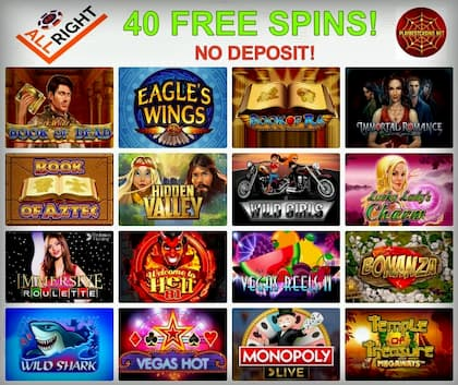 All Right Casino: 40 Free Spins for New Players!