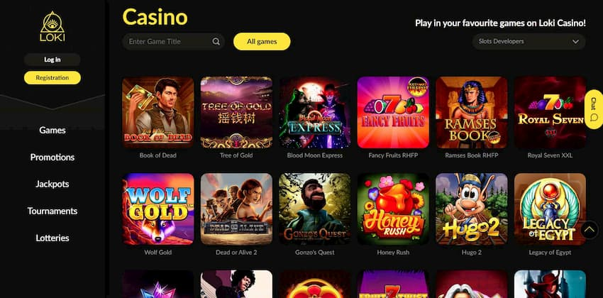 Design and Functionality of The Loki Casino can be seen here.