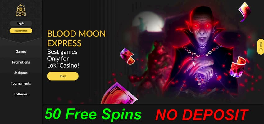 Loki.com 50 free spins with no deposit can be seen here.