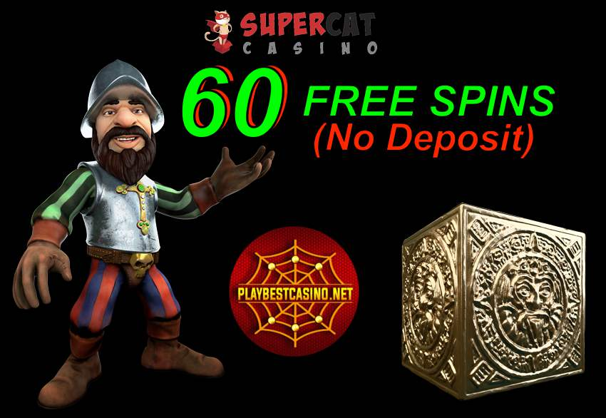 Super Cat Casino (Review 2020) Get 60FS «Gonzo's Quest» (No Deposit) is on this photo.