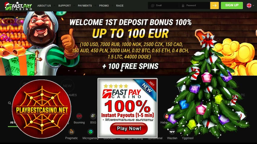 Fastpay casino bonuses can be seen on this image!
