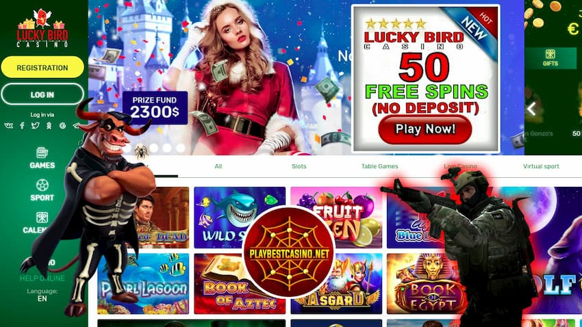 Lucky Bird Casino Sports and Cybersports Betting can be seen on this image.