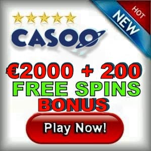 Casoo Casino Free Spins Bonus can be seen on this image.