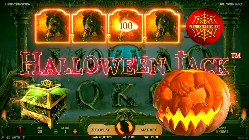 Haalloween jack slot from Netent provider can be seen on this image.