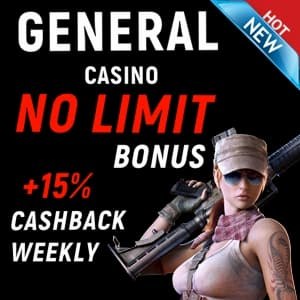 Casino General Bonus and Cashback can be seen on this photo.