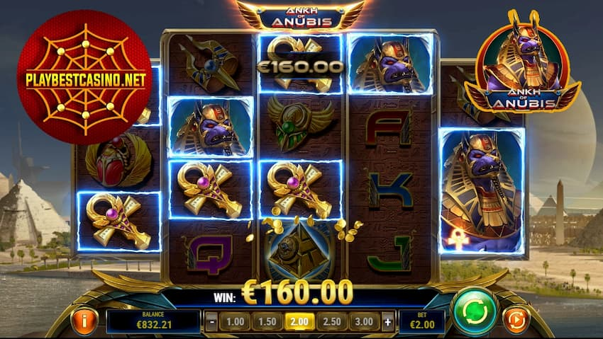 Ankh of Anubis 20 free spins bonus Playbestcasino.net is oh photo.