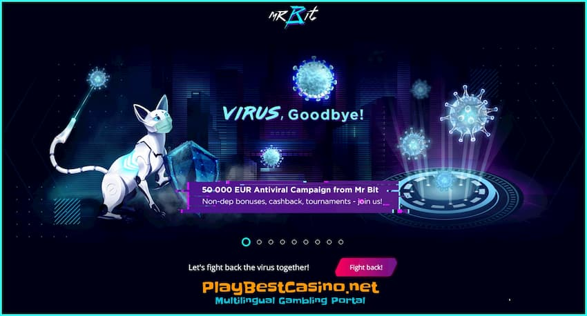 Virus (covid-19) goodbuy special offer in MrBit Casino is on photo.