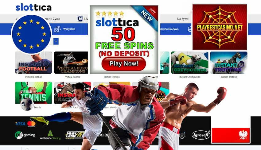 Slottica Casino Sport and Cybersports Betting can be seen on this image.