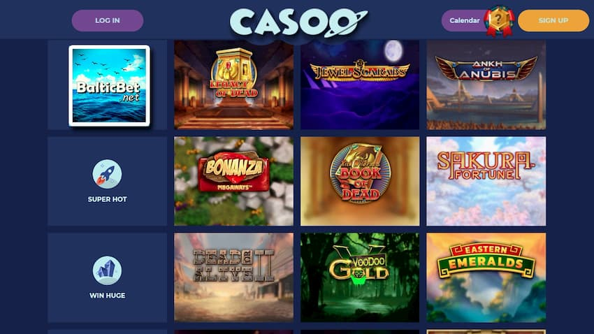 Casoo Casino Slots are on this image.