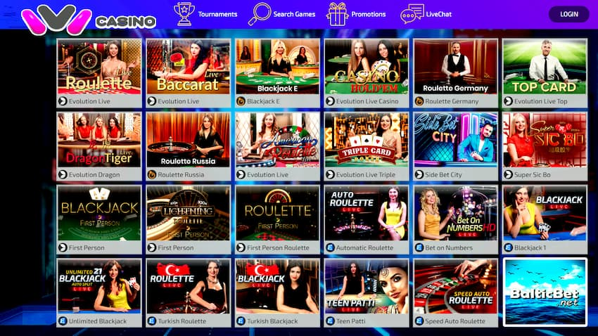 Ivi Live Casino for BalticBet.net is on photo.