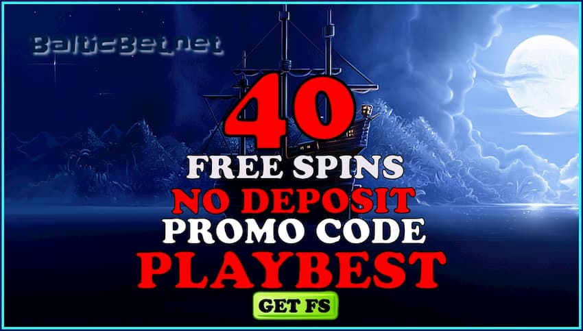 40 Free Spins with promo code PLAYBEST in Casino FRESH are on photo.