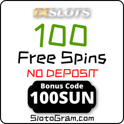 Casino bonus code 1xSLOTS to get 100 spins no deposit in Book of SUN Multichance slot is in the photo.