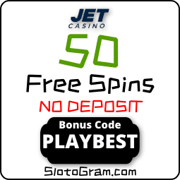 JET casino promo code for 50 spins no deposit for Registration is in this photo.