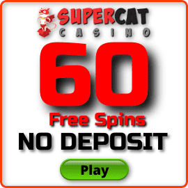60 Free Spins For Registration at Super Cat Casino are in the photo.