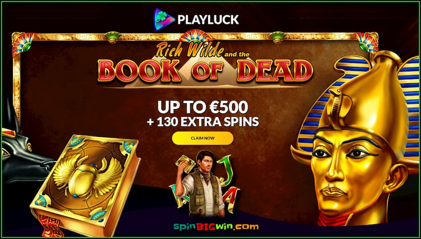 Playluck Casino Review (New) Claim €500 Welcome Bonuses are in this photo.