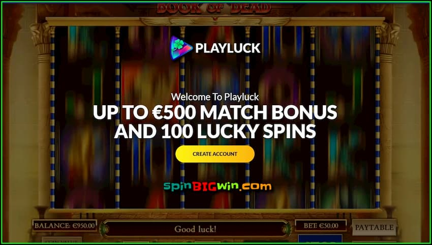 The Best Welcome bonuses are in New casino Playluck are on the photo.