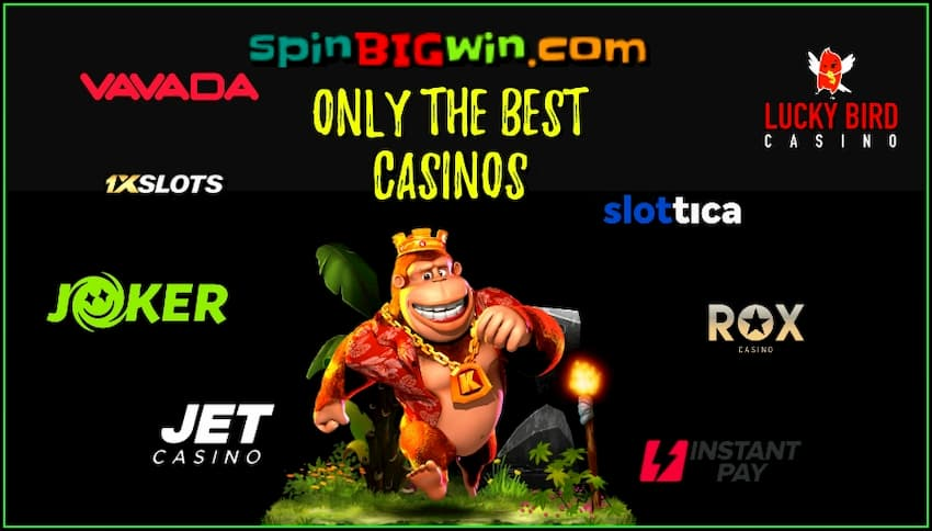 At spinBIGwin, players will find only the best licensed casinos is in this photo.