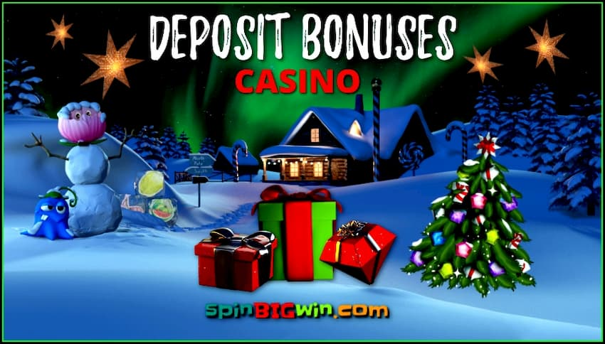 Best Casino Deposit Bonuses from spinBIGwin.com are in the photo.