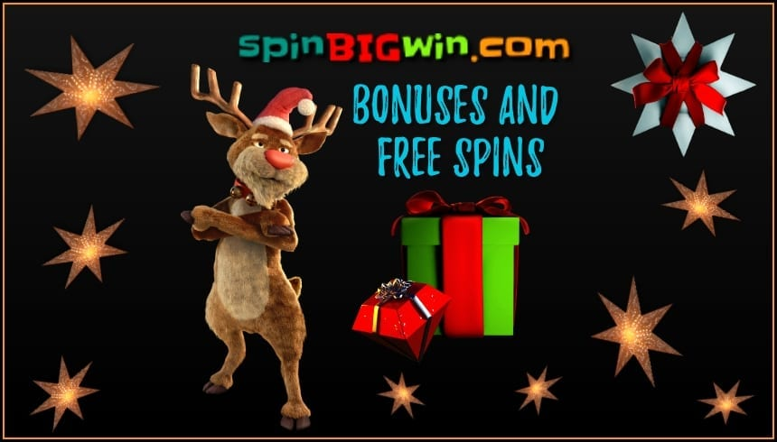 Only the Best Bonuses and Free Spins No Deposit on spinBIGwin are in tis photo.