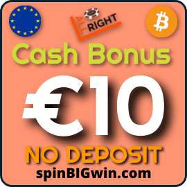 Cash Bonus at ALL RIGHT Licensed Online Casino at SpinBigWin.com is pictured.