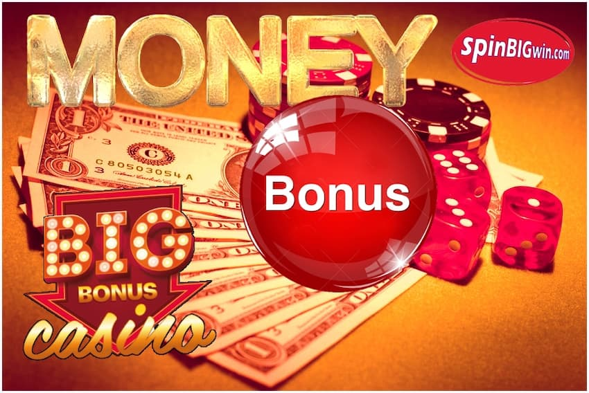 Cash Bonus at the Best Online Casinos at SpinBigWin.com is pictured.