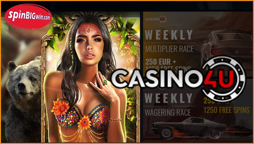Casino4u review at spinBIGwin.com is in this photo.