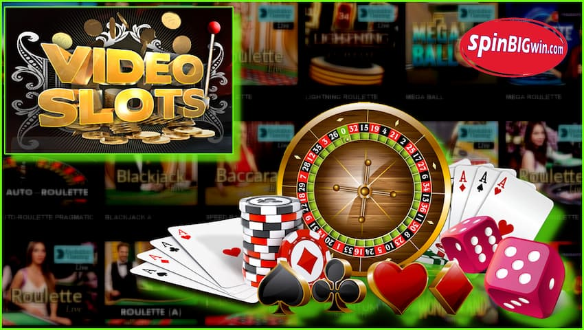 Live Casino VideoSlots are in this photo.