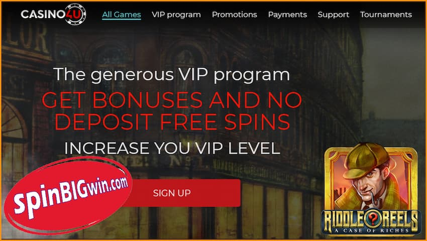 The best cryptocurrency Casino4U and VIP program are in this photo.